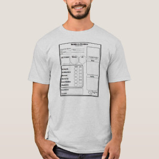 Men's Gaming Character Sheet Shirt