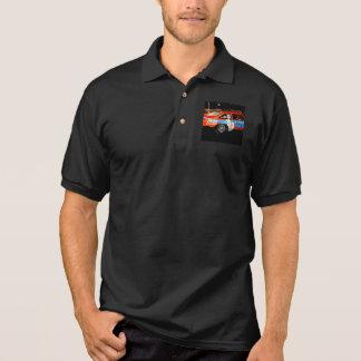 Men's Gildan Jersey Polo Shirt with racecar design