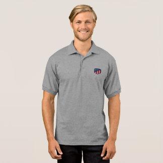 Men's Gildan Jersey Polo Usa symbol of t- Shirts