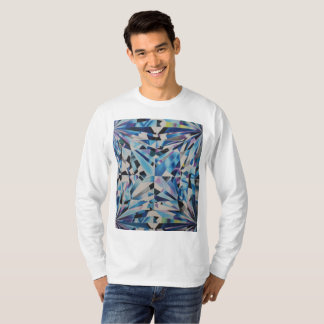 Men's Glass Diamond Basic Long Sleeve T-Shirt