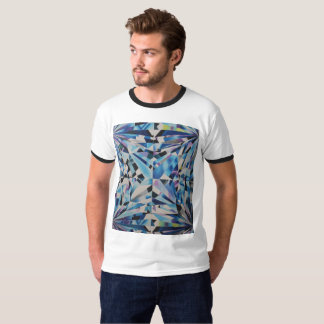Men's Glass Diamond Ringer T-Shirt