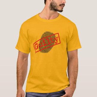 Mens Gold Guilty Fingerprint T-shirt