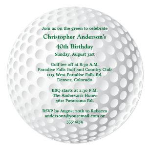 golf birthday invitations announcements zazzle ca. Black Bedroom Furniture Sets. Home Design Ideas