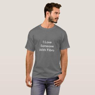 Men's Gray I Love Someone With FIbro Shirt