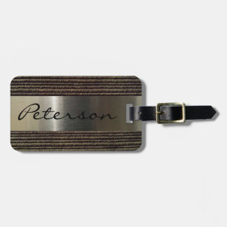 Men's Grey Corduroy And Steel Image Bag Tag