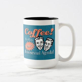 Men's Homosexual Agenda Coffee Mug