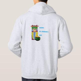 Men's Hooded Sweat shirt - Cradleboard Leprechaun