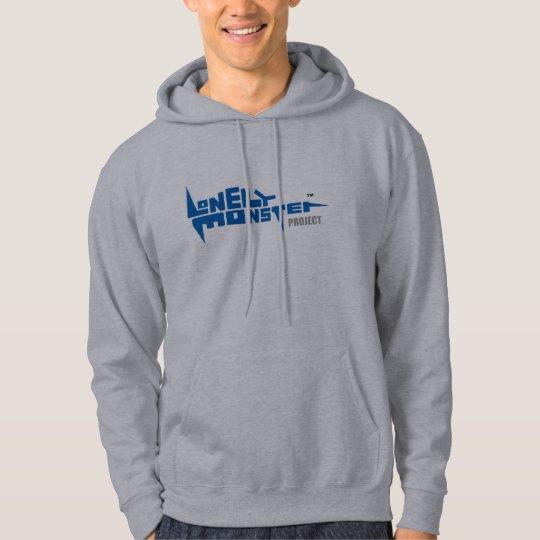 Men's Hoodie, Blue Logo Front and Back Hoodie