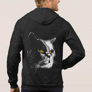 Men's Hoodie: Cat Stencil Art Hoodie
