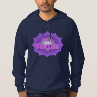Men's hoodie with violet mandala