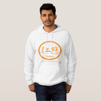 Mens hoodies with orange kamon circle and kanji