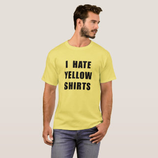 "Men's ""I Hate Yellow Shirts"" yellow shirt"