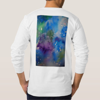 Men's Jersey Long Sleeve tee with abstract design