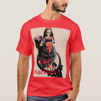 Mens just married shirt, headless skeleton corpse T-Shirt