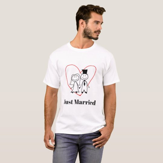 Men's Just Married Wedding T-Shirt