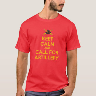 Mens Keep Calm Classic Tee Yellow Lettering