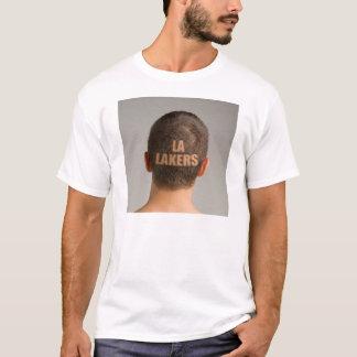 Men's LA Lakers Sports Haircut Shaved Head T-Shirt