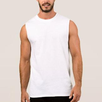 Mens Lifting Sleeveless White T-Shirt