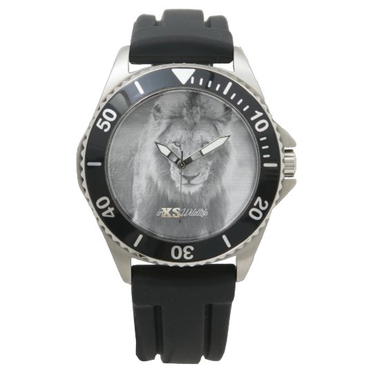 Men's LION Stainless Steel Black Strap Watch