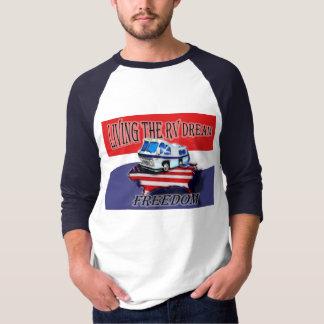 Mens Living the RV Dream Freedom Baseball Jersey T-Shirt