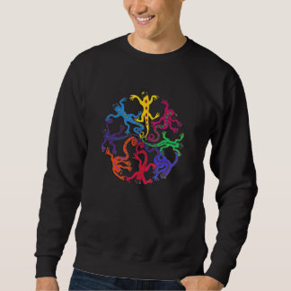 Men's long sleeve cotton tee-Circle of Lizards Sweatshirt