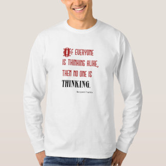 "Men's Long-Sleeve ""Thinking Quote"" T-Shirt"