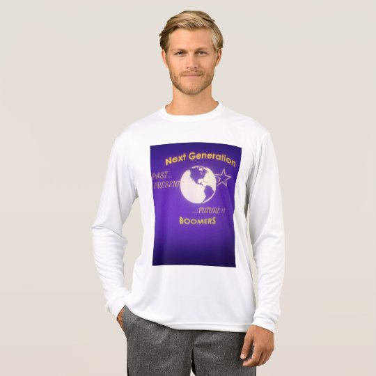 Men's Long-Sleeve White Tee Next Generation Boomer