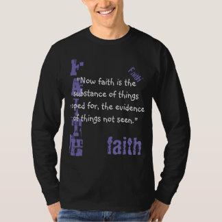 Men's Long Sleeved T-  Faith Scripture Heb. 11:1 T-Shirt