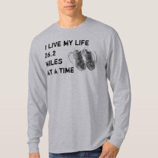Men's LS - I live my life 26.2 miles at a time T-Shirt