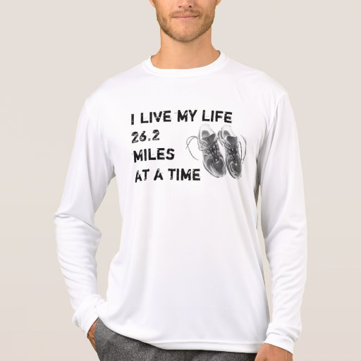 Men's LS Wicking - Life 26.2 miles at a time T Shirt