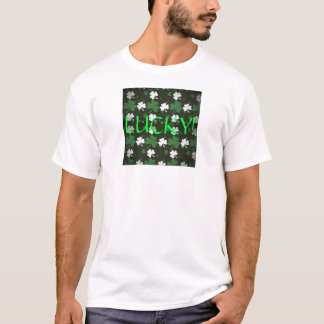 "Mens ""LUCKY!"" Shamrock Tee"