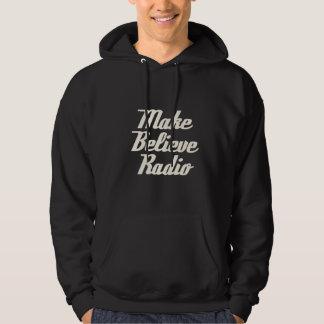 Men's Make Believe Radio Black Hooded Sweatshirt
