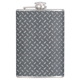 Men's Metal Look Diamond Plate Flasks