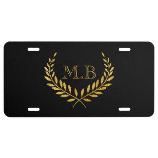 Men's Monogram License Plate