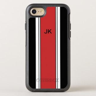 Mens Monogram Racing Theme OtterBox Symmetry iPhone 8/7 Case