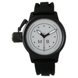 Men's Monogram Style Watch