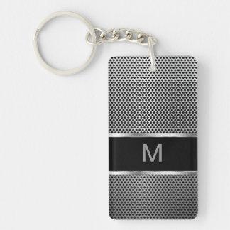 Men's Monogram Two Side Keychain
