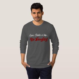 Men's Naughty Funny Christmas Holiday Shirt