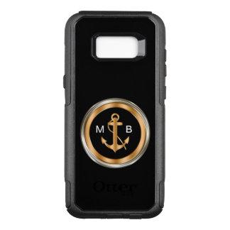 Mens Nautical Monogram OtterBox Commuter Samsung Galaxy S8+ Case