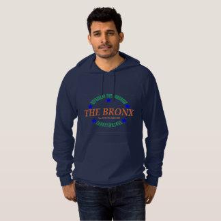Men's Navy Fleece Pullover Hoodie w/The Bronx logo