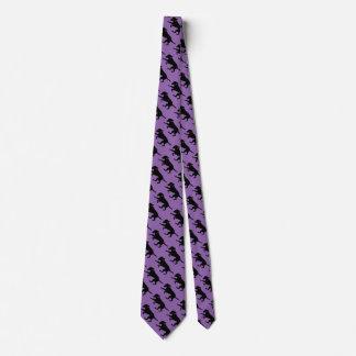 Men's necktie playful black lab print