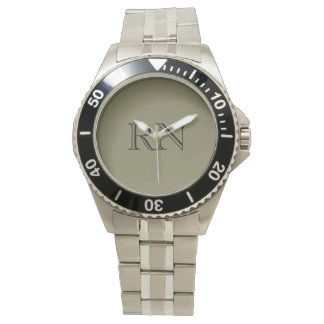 Men's Nurse stainless steel watch
