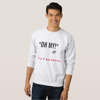"""Men's """"OH MY!"""" Sweatshirt Red Text"""