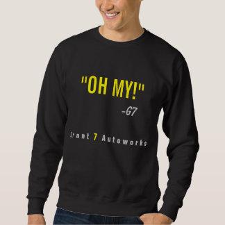 "Men's ""OH MY!"" Sweatshirt Yellow Text"