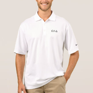 Mens Omega Lambda Delta Long Polo Shirt