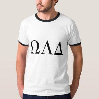 Mens Omega Lambda Delta Ringer Tee