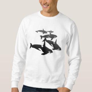 Men's Orca Whale Shirt Killer Whale Art Sweatshirt