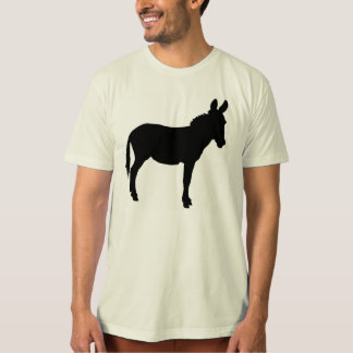 Mens organic tshirt with donkey various colours