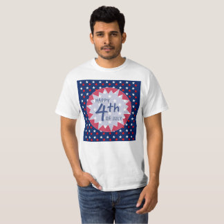 Mens Patriotic 4th of July  Value T-Shirt