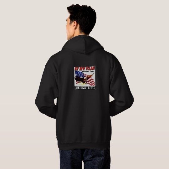 Men's Patriotic Hooded Sweatshirt